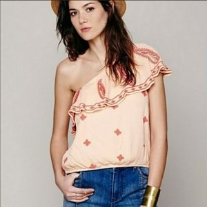 NWT Free People Easy On The Eyes One Shoulder Top
